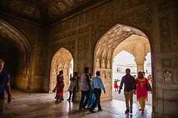 The archway around the Taj Mahal, Agra, India,