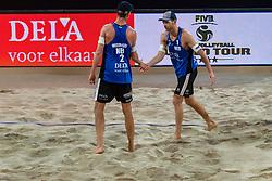06-01-2019 NED: Dela Beach Open, Den Haag<br /> Netherlands lost the bronze medal from Russia 1-2 / Robert Meeuwsen #2, Alexander Brouwer #1