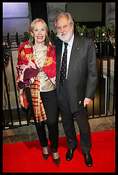 David Puttnam and wife  arriving  arriving at the British Film Institute's  Luminous Gala in London,  Tuesday, 8th October 2013. Picture by Stephen Lock / i-Images