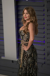 February 24, 2019 - Beverly Hills, California, U.S - Sofia Vergara on the red carpet of the 2019 Vanity Fair Oscar Party held at the Wallis Annenberg Center in Beverly Hills, California on Sunday February 24, 2019. JAVIER ROJAS/PI (Credit Image: © Prensa Internacional via ZUMA Wire)