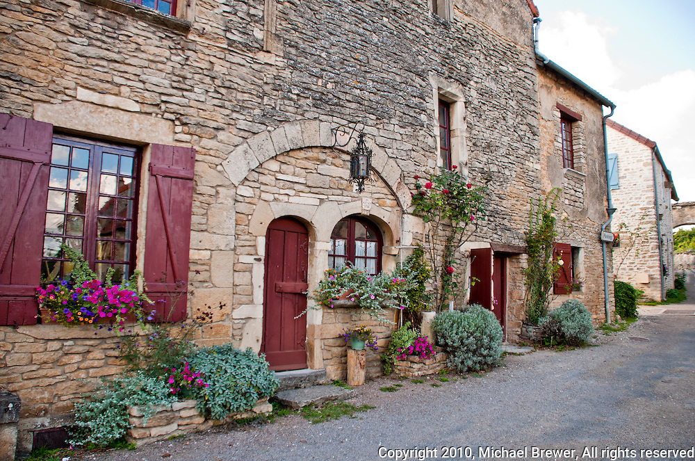 Pretty, traditional village outside Chateauneuf-en-Auxois, France.