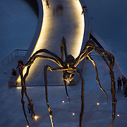 Spider sculpture called Maman by Louise Bourgeois in front of Museum Museo Guggenheim