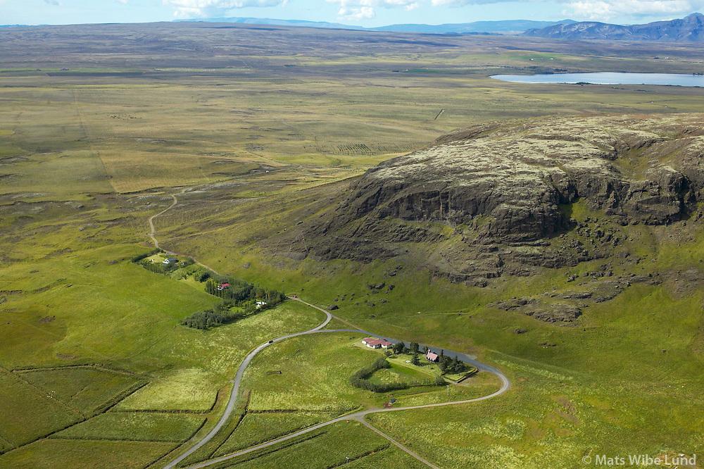 Mosfell, séð til vesturs, Laugardalshreppur /.Mosfell, viewing west, Laugardalshreppur.