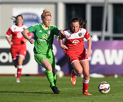 Sunderland AFC Ladies' Rachel Furness chases Bristol Academy's Caroline Weir - Mandatory by-line: Paul Knight/JMP - 25/07/2015 - SPORT - FOOTBALL - Bristol, England - Stoke Gifford Stadium - Bristol Academy Women v Sunderland AFC Ladies - FA Women's Super League