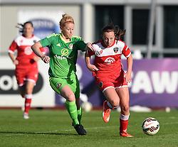 Sunderland AFC Ladies' Rachel Furness chases Bristol Academy's Caroline Weir - Mandatory by-line: Paul Knight/JMP - 25/07/2015 - SPORT - FOOTBALL - Bristol, England - Stoke Gifford Stadium - Bristol Academy Women v Sunderland AFC Ladies - FA Women's Super League