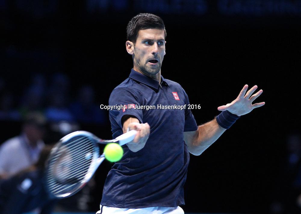 NOVAK DJOKOVIC (SRB), ATP World Tour Finals, O2 Arena, London, England.<br /> <br /> Tennis - ATP World Tour Finals 2016 - ATP -  O2 Arena - London -  - Great Britain  - 15 November 2016. <br /> &copy; Juergen Hasenkopf/Grieves