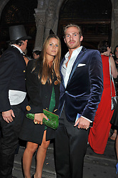 JACOBI ANSTRUTHER-GOUGH-CALTHORPE and IRENE FORTE at The Global Party held at The Natural History Museum, Cromwell Road, London on 8th September 2011.