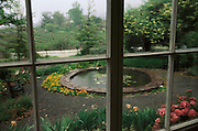 Jack London State Historical Park, in Glen Ellen, California (Sonoma County). View from London's cottage on rainy day.