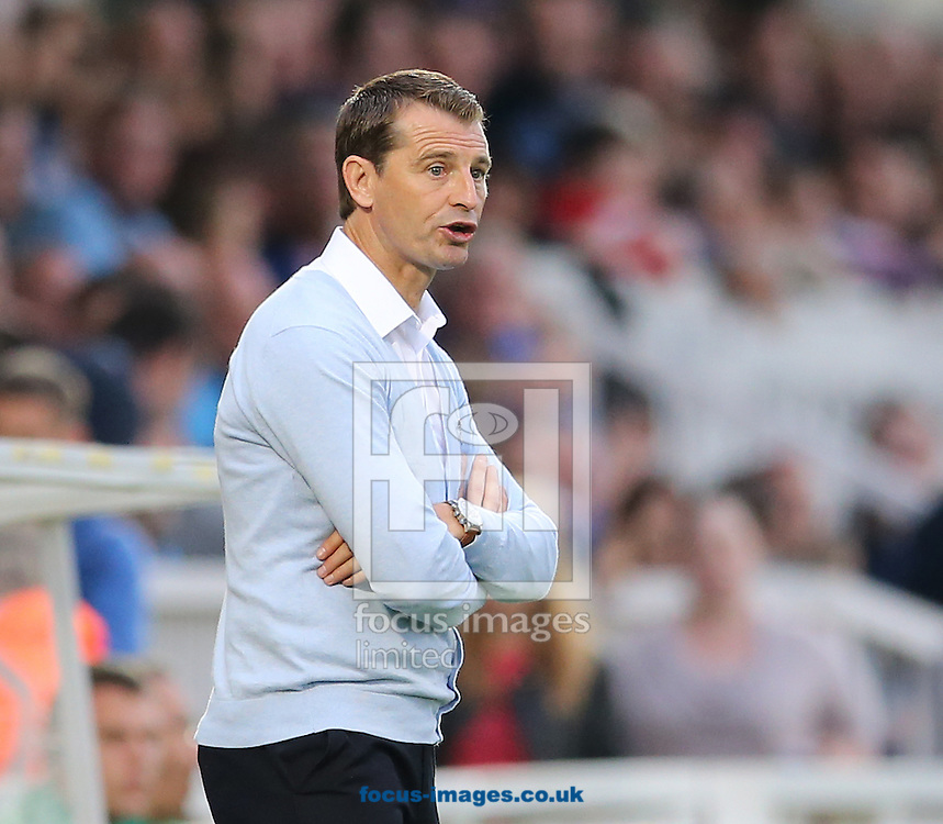 Hartlepool United manager Colin Cooper during the Pre Season Friendly match at Victoria Park, Hartlepool<br /> Picture by Simon Moore/Focus Images Ltd 07807 671782<br /> 23/07/2014