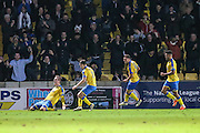 Torquay United's Ben Gerring celebrates his goal, 4-0 during the Vanarama National League match between Torquay United and Forest Green Rovers at Plainmoor, Torquay, England on 26 December 2016. Photo by Shane Healey.