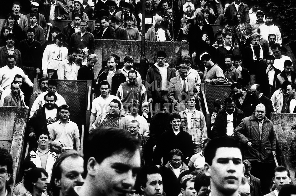 Chelsea Football Fans. West Stand Late, London, U.K 1980's.