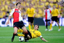 27-04-2008 VOETBAL: KNVB BEKERFINALE FEYENOORD - RODA JC: ROTTERDAM <br /> Feyenoord wint de KNVB beker - Nuri Sahin en Marcel Meeuwis<br /> ©2008-WWW.FOTOHOOGENDOORN.NL