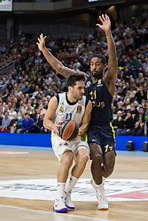 March 2, 2018 - Madrid, Madrid, Spain - Facundo Campazzo (L) and Brad Wannamaker (R) during Fenerbahce Dogus Istanbul victory over Real Madrid (83 - 86) in Turkish Airlines Euroleague regular season game (round 24) celebrated at Wizink Center in Madrid (Spain). March 2nd 2018. (Credit Image: © Juan Carlos Garcia Mate/Pacific Press via ZUMA Wire)