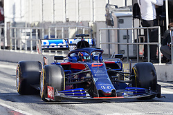 February 26, 2019 - Spain - Alexander Albon (Red Bull Toro Rosso Honda) STR14 car, seen in action during the winter testing days at the Circuit de Catalunya in Montmelo  (Credit Image: © Fernando Pidal/SOPA Images via ZUMA Wire)