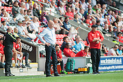 Fleetwood Town manager Uwe Rosler during the EFL Sky Bet League 1 match between Fleetwood Town and Charlton Athletic at the Highbury Stadium, Fleetwood, England on 10 September 2016. Photo by John Marfleet.