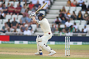 Ben Stokes of England square cuts for more runs during the 3rd International Test Match 2018 match between England and India at Trent Bridge, West Bridgford, United Kingdon on 21 August 2018.