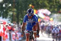 Italian rider during the Men's Elite Road Race at the UCI Road World Championships on September 25, 2011 in Copenhagen, Denmark. (Photo by Marjan Kelner / Sportida Photo Agency)