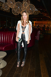ROSIE FORTESCUE at a party hosted by Christian Lacroix partnered with Supa Model Management to celebrate London Men's Collections January 2015, held at the Rumpus Room, the roof top bar at the top of the Mondrian London, 20 Upper Ground, London SE1 on 12th January 2015.