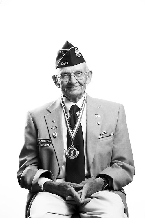Spencer Holland<br /> Army<br /> O-2<br /> Engineer<br /> Aug. 3, 1952 - May 3, 1954<br /> Korea<br /> <br /> Veterans Portrait Project<br /> Colorado Springs, CO