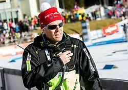 Uros Velepec, head coach of SLovenia during Women 12,5 km Mass Start at day 4 of IBU Biathlon World Cup 2014/2015 Pokljuka, on December 21, 2014 in Rudno polje, Pokljuka, Slovenia. Photo by Vid Ponikvar / Sportida