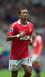 BOLTON, ENGLAND - Sunday, September 26, 2010: Manchester United's Nani in action against Bolton Wanderers during the Premiership match at the Reebok Stadium. (Photo by David Rawcliffe/Propaganda)