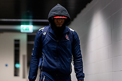 Fred Thomas of Bristol Flyers arrives at Copper Box Arena prior to kick off - Photo mandatory by-line: Ryan Hiscott/JMP - 18/12/2019 - BASKETBALL - Copper Box Arena - London, England - London Lions v Bristol Flyers - British Basketball League Championship