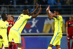 July 27, 2017 - Gand, Belgique - GENT , BELGIUM - JULY 27 :   Kalifa Coulibaly forward of KAA Gent celebrates  pictured during the first leg of the third qualifying round for the UEFA Europa League competition match between KAA Gent and Sc Rheindorf Altach on July 27, 2017 in Gent, Belgium .27/07/2017 (Credit Image: © Panoramic via ZUMA Press)
