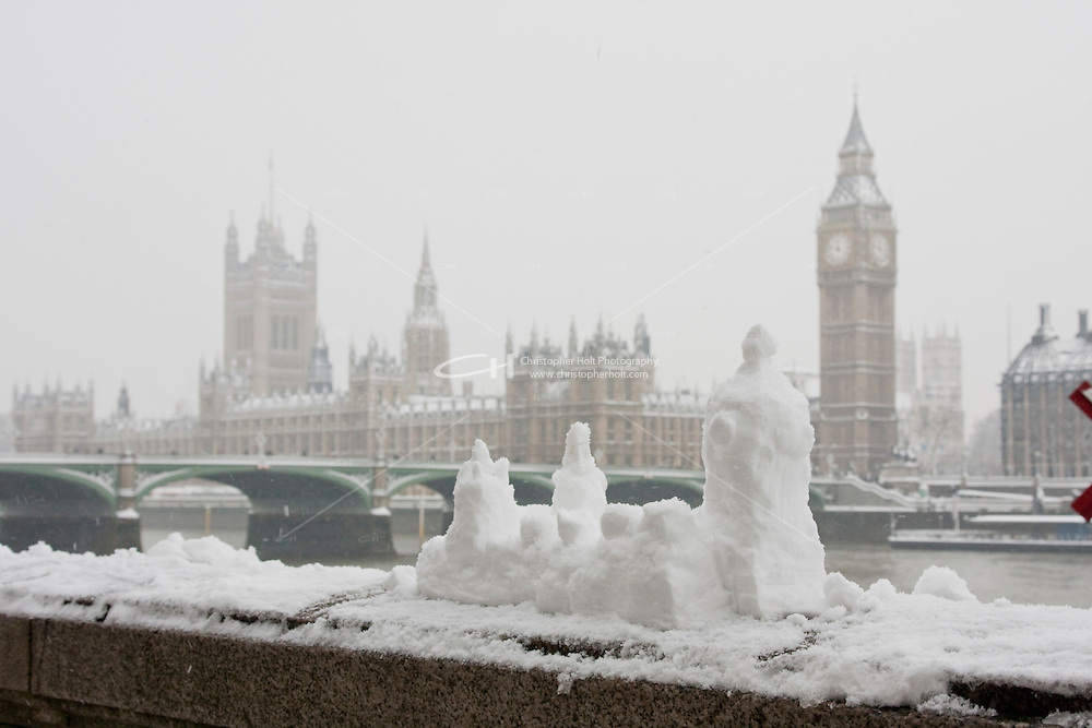 heavy snow fall in london february 2009