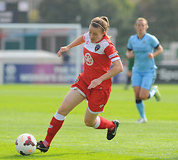 Bristol Academy Womens' Frankie Brown takes control of possession.- Photo mandatory by-line: Nizaam Jones- Mobile: 07583 387221 - 28/09/2014 - SPORT - Women's Football - Bristol - SGS Wise Campus - BAWFC v Man City Ladies - sport
