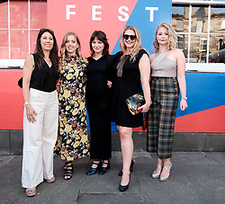 Edinburgh International Film Festival 2019<br /> <br /> CARMILLA (world premiere)<br /> <br /> Pictured: (l to r) Emily Harris (Director), Hannah Rae, Devrim Lingnau, Emily Precious (producer) and Elizabeth Brown (producer)<br /> <br /> Aimee Todd | Edinburgh Elite media