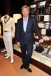 BORIS BECKER at the Ralph Lauren Wimbledon Party held at Ralph Lauren, 1 New Bond Street, London on 17th June 2010.