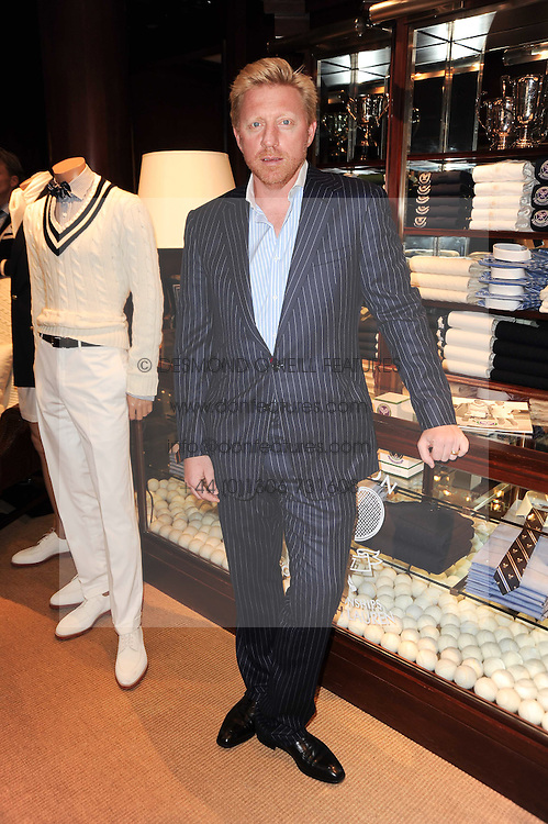 BORIS BECKER at the Ralph Lauren Wimbledon Party held at Ralph Lauren, 1 New Bond Street, London on 17th June 2010.