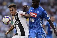 Paulo Dybala Juventus Kalidou Koulibaly Napoli <br /> Torino 29-09-2018 Allianz Stadium Football Calcio Serie A 2018/2019 Juventus - Napoli <br /> Foto OnePlusNine / Insidefoto