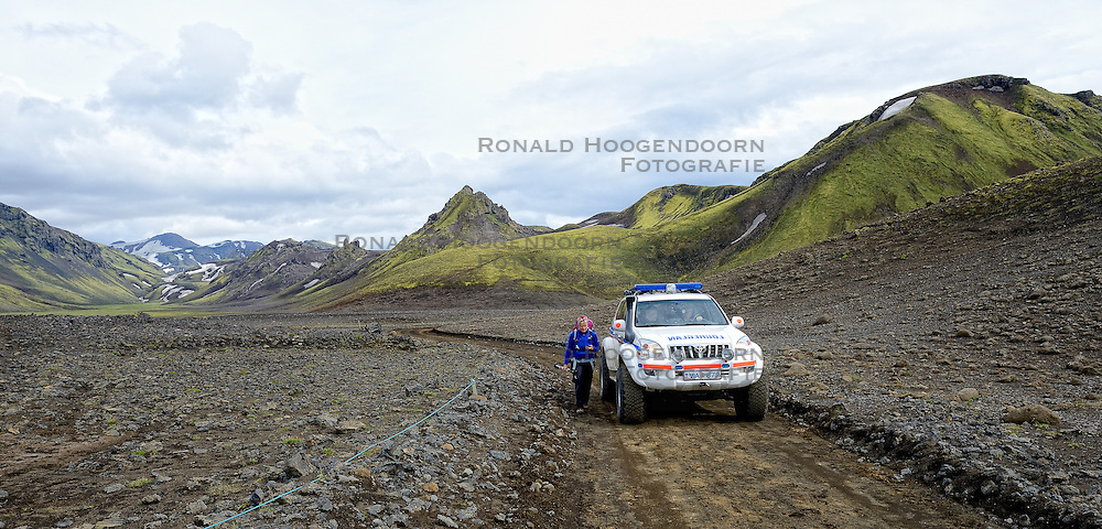 09-07-2014 ISL: Iceland Diabetes Challenge Dag 5, Emstrur<br /> Van Alftavatn naar Emstrur / Petra Seegers
