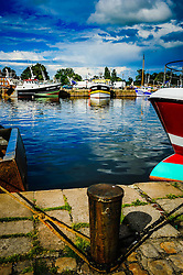 Fishing boats in the harbour in Honfleur, Normandy, France