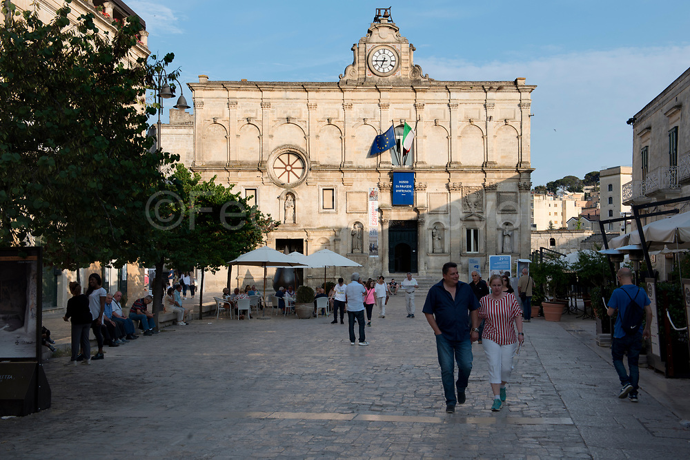 Pdestrian street, Museo Palazzi Lanfranchi inthe background