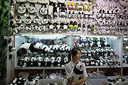 Beijing Zoo. The Great Pandas are the undisputed stars. Selling souvenir plush Pandas.