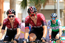The peloton including Tao Geoghegan Hart and Ian Stannard (GBR) Team Ineos pass through Almussafes during Stage 4 of La Vuelta 2019 running 175.5km from Cullera to El Puig, Spain. 27th August 2019.<br /> Picture: Eoin Clarke | Cyclefile<br /> <br /> All photos usage must carry mandatory copyright credit (© Cyclefile | Eoin Clarke)