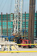 A natural gas drilling site in Fort Worth, Texas on October 21, 2014. (Photo by Cooper Neill)