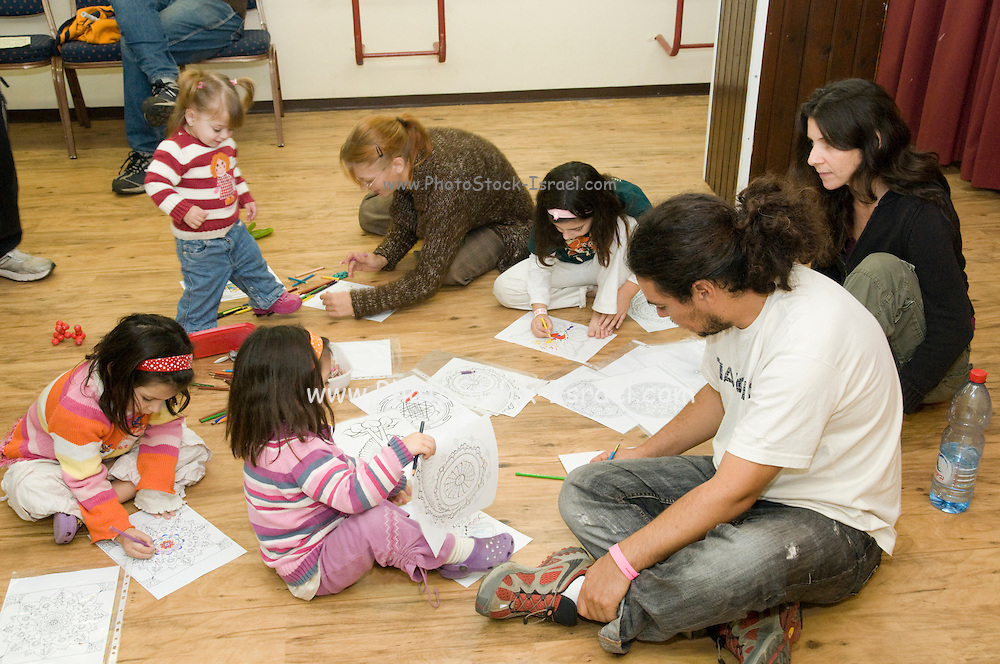 Group of children in an activity centre