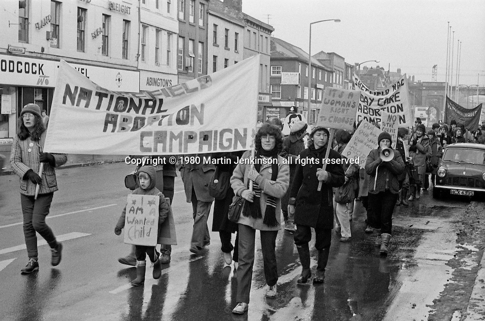 National Abortion Campaign March, Sheffield 02-02-1980