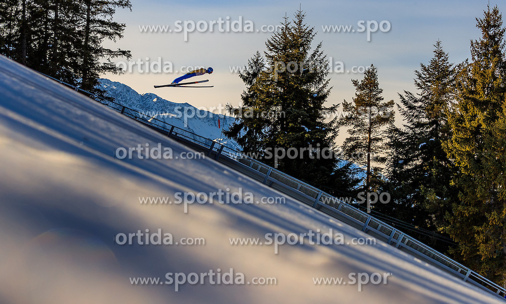 28.01.2017, Casino Arena, Seefeld, AUT, FIS Weltcup Nordische Kombination, Seefeld Triple, Skisprung, im Bild Wilhelm Denifl (AUT) // Wilhelm Denifl of Austria in action during his Trail Jump of Skijumping of the FIS Nordic Combined World Cup Seefeld Triple at the Casino Arena in Seefeld, Austria on 2017/01/28. EXPA Pictures © 2017, PhotoCredit: EXPA/ JFK