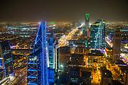 View over Riadh from the  Al Faisaliyah Centre skyscraper, Riadh, Saudi Arabia