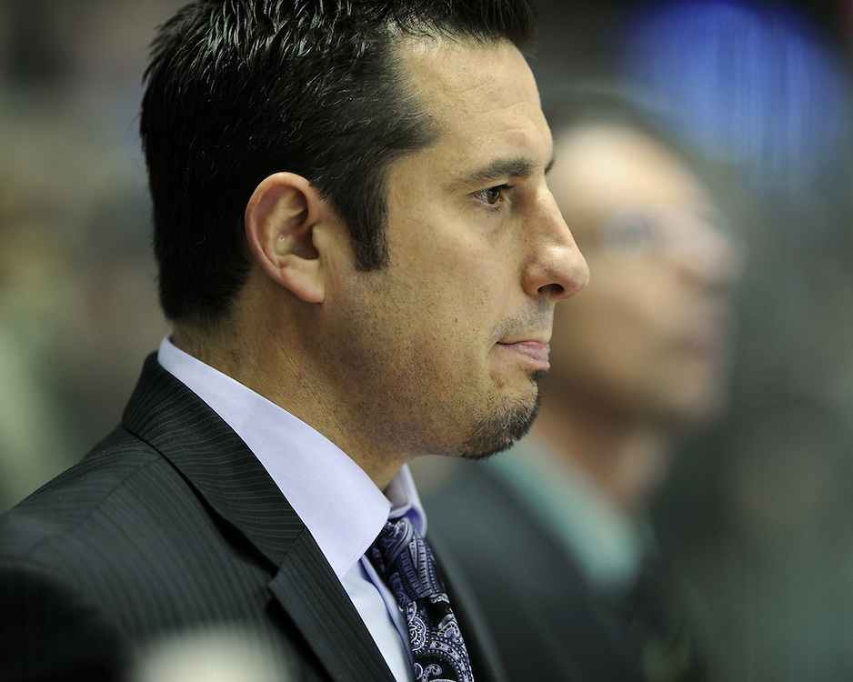 Bob Boughner of the Windsor Spitfires in Game 4 of the SUBWAY Super Series in Windsor, ON on November 23. Photo by Aaron Bell/OHL Images.