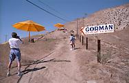 Christo's yellow umbrellas near Gorman, California in October 1991.