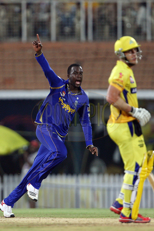 Kevon Cooper during match 26 of the the Indian Premier League ( IPL) 2012  between The Chennai Superkings and the Rajasthan Royals held at the M. A. Chidambaram Stadium, Chennai on the 21st April 2012..Photo by Jacques Rossouw/IPL/SPORTZPICS