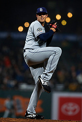 SAN FRANCISCO, CA - APRIL 08: Brad Wieck #57 of the San Diego Padres pitches against the San Francisco Giants during the seventh inning at Oracle Park on April 8, 2019 in San Francisco, California. The San Diego Padres defeated the San Francisco Giants 6-5. (Photo by Jason O. Watson/Getty Images) *** Local Caption *** Brad Wieck