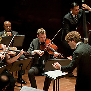 August 8, 2011 - Manhattan, NY : Conductor Pablo Heras-Casado, front, and the International Contemporary Ensemble perform during Lincoln Center's Mostly Mozart festival at Alice Tully Hall on Monday evening. CREDIT: Karsten Moran for The New York Times