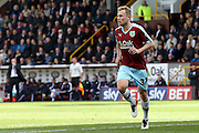 Burnley midfielder Scott Arfield (37)  during the Sky Bet Championship match between Burnley and Queens Park Rangers at Turf Moor, Burnley, England on 2 May 2016. Photo by Simon Davies.