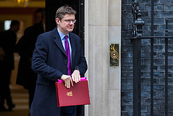 © Licensed to London News Pictures. 27/03/2018. London, UK. JSecretary of State for Business, Energy and Industrial Strategy Greg Clark on Downing Street after the weekly Cabinet meeting. Photo credit: Rob Pinney/LNP
